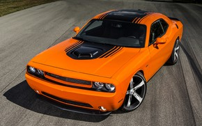 Picture Muscle, Dodge, Challenger, Orange, R/T Shaker