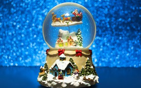 Picture decoration, snow, ball, New Year, Christmas, Christmas, New Year, decoration, xmas, Merry