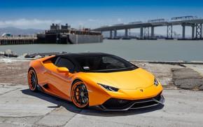 Picture Lamborghini, Orange, VAG, Performante, Huracan