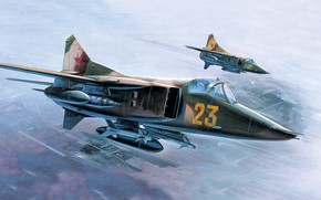Picture USSR, THE SOVIET AIR FORCE, The MiG-27, Combat aircraft, Supersonic Fighter