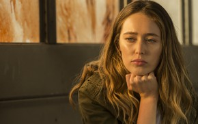 Picture Girl, Lips, Hand, Face, Hair, Eyes, Actress, Jacket, Sitting, Brooding, Fear the walking dead, Alycia …