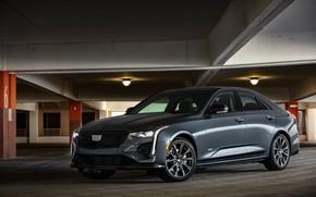 Picture Cadillac, garage, sedan, four-door, 2020, CT4-V