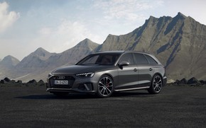 Picture mountains, Audi, tops, universal, 2019, A4 Avant, S4 Before