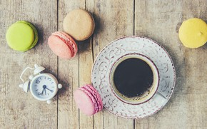 Picture colorful, coffee cup, french, macaron, a Cup of coffee, macaroon