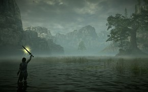 Picture fog, swamp, Shadow of the Colossus, In the shadow of the colossus