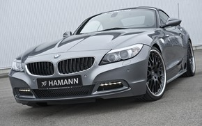Picture grey, BMW, Roadster, Hamann, 2010, E89, BMW Z4, Z4, near the wall