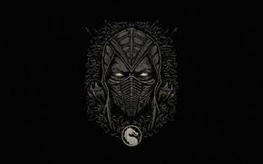 Picture Minimalism, Style, Logo, Background, Mask, Logo, Fighter, Art, Logo, Style, Mortal Kombat, Background, Helix, Minimalism, …