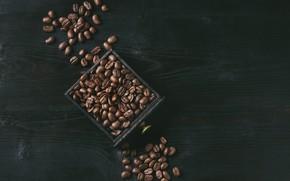 Picture table, box, coffee, grain, coffee