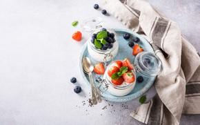 Picture berries, dessert, pudding, Chia, Iryna Melnyk