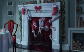 Picture Christmas, Hands, Fantasy, Holiday, Santa Claus, Fear, Fireplace, Santa, Santa Claus, Illustration, Characters, Horror, Creepy, …