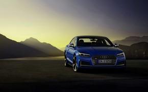Picture mountains, blue, Audi, coupe, Audi A5, Coupe, Audi S5, 2019