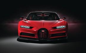 Picture Bugatti, front view, 2018, Sport, Chiron
