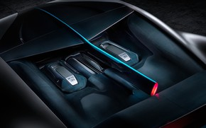 Picture engine, Bugatti, supercar, 2018, hypercar, Divo