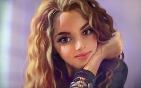 Picture girl, face, smile, hair, portrait, Anna Gurieva