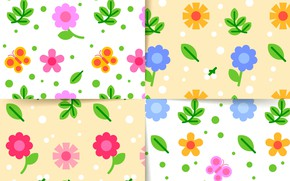 Picture white, flowers, background, texture, design, patterns