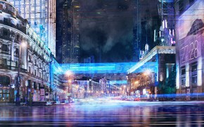 Picture night, the city, lights, art, Music video concept, Iliya Klimov