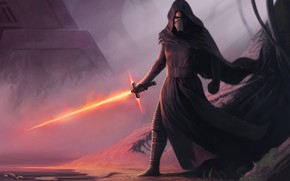Picture Star Wars, Sword, Art, Sith, Kylo Ren, by Dean Spencer, Dean Spencer, Forbidden Knowledge