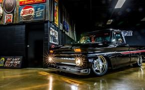 Picture Chevrolet, Truck, Custom, Garage, Pick up, C10, Hoonigan