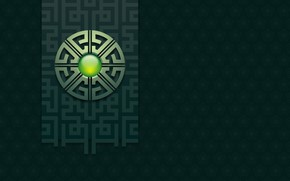 Picture symbol, character, greenish color, символ земли