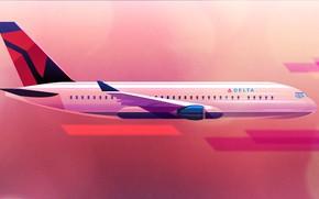 Picture Minimalism, The plane, Liner, Flight, Board, Style, Flight, Art, Art, Style, Digital, Illustration, Minimalism, Aircraft, …