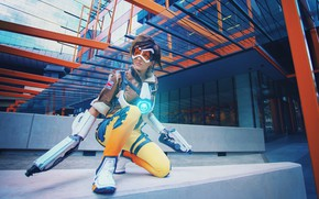Picture girl, cosplay, Overwatch