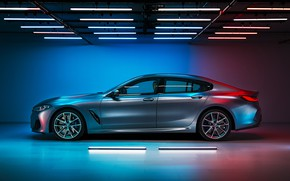 Picture BMW, side view, Gran Coupe, 8-Series, 2019, M850i, XDrive, G16