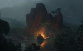 Picture Serenity, Fantasy art, Efflam Mercier, atmospheric art