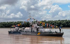 "Picture Flags, Ukraine, The Danube, The coast guard, Gunboat, GPS Ukraine, Project 1204 ""Shmel"""