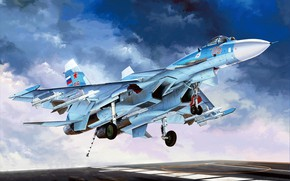 Picture Russia, Su-33, Navy, Carrier-based fighter, Deck-based aircraft