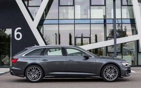 Picture Audi, profile, 2018, universal, dark gray, A6 Avant