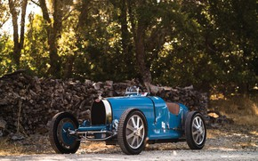 Picture Retro, Blue, 1927, Sports car, Bugatti Type 35C