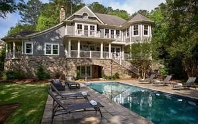 Picture Villa, pool, architecture, facade