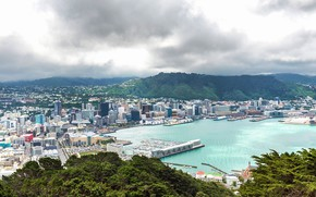 Picture New Zealand, hill, panorama, Wellington