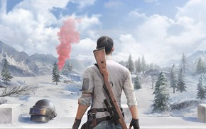 Picture snow, soldiers, helmet, guy, PlayerUnknown's Battlegrounds