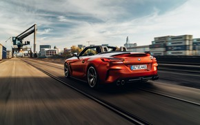 Picture BMW, back, Roadster, in motion, industrial zone, double, AC Schnitzer, BMW Z4, M40i, Z4, 2019, …