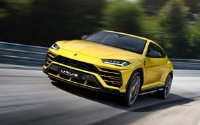 Picture Lamborghini, SUV, supercar, sports, crossover, Urus, yellow car, Четырёхлитровый двигатель V8