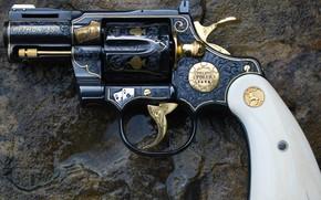 Picture weapons, Custom, gun, weapon, engraving, custom, Colt, Revolver, Python, Revolver, 357 Magnum, 357 Magnum, Engraving, …