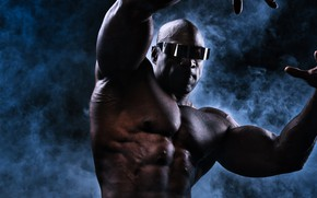 Picture pose, background, body, glasses, male, muscle, bodybuilder