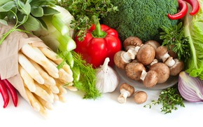Picture mushrooms, food, vegetables