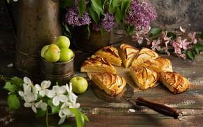 Picture pie, dessert, cakes, decor, Apple
