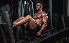 Picture pose, muscle, muscle, training, athlete, simulators, bodybuilder, training, Gym, bodybuilder, gym