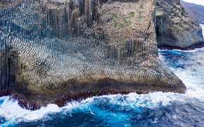Picture rocks, Canary Islands, basalt formations, the island of La Gomera