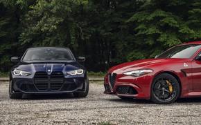 Picture BMW, Alfa Romeo, BMW M3, Giulia, 2021, M3 Competition