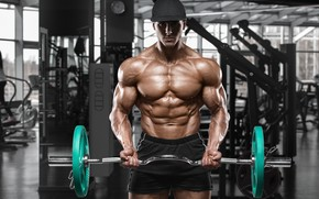 Picture muscles, fitness, bodybuilder