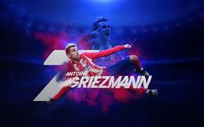 Picture wallpaper, sport, football, player, Atletico Madrid, Antoine Griezmann