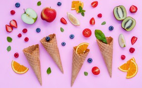 Picture berries, colorful, fruit, horn, fruit, berries, cone
