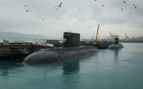 Picture sea, black, Navy, Novorossiysk, submarines, the project 636.3