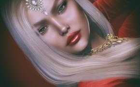 Picture look, girl, rendering