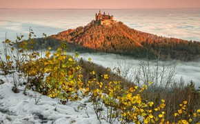 Picture Winter, Hohenzollern Castle, Baden-Württemberg, The Swabian Alb