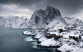 Picture sea, shore, Norway